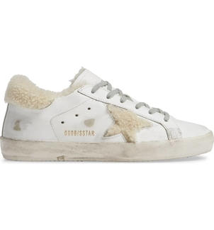 Golden Goose Deluxe Brand Sneakers Superstar - White & Shearling Shoes