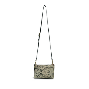 La Double J Cheetah Nottingham Double Zip Crossbody Bags