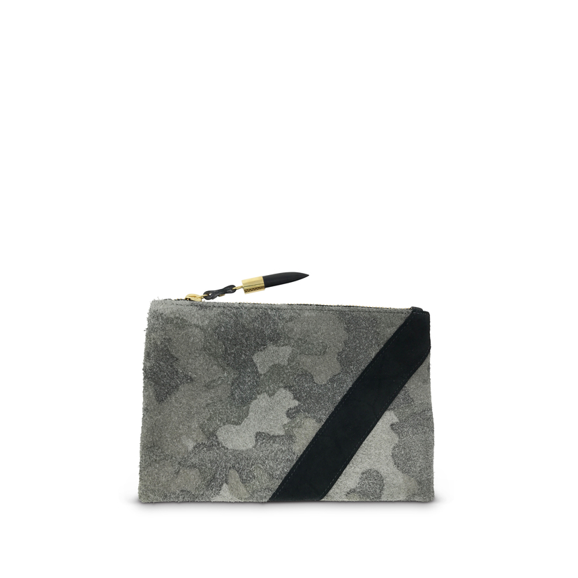 Kempton Co Camo Suede Small Pouch Bags