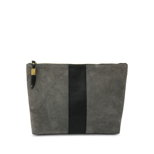 Kempton Co Storm Suede/Black Stripe Medium Pouch Bags