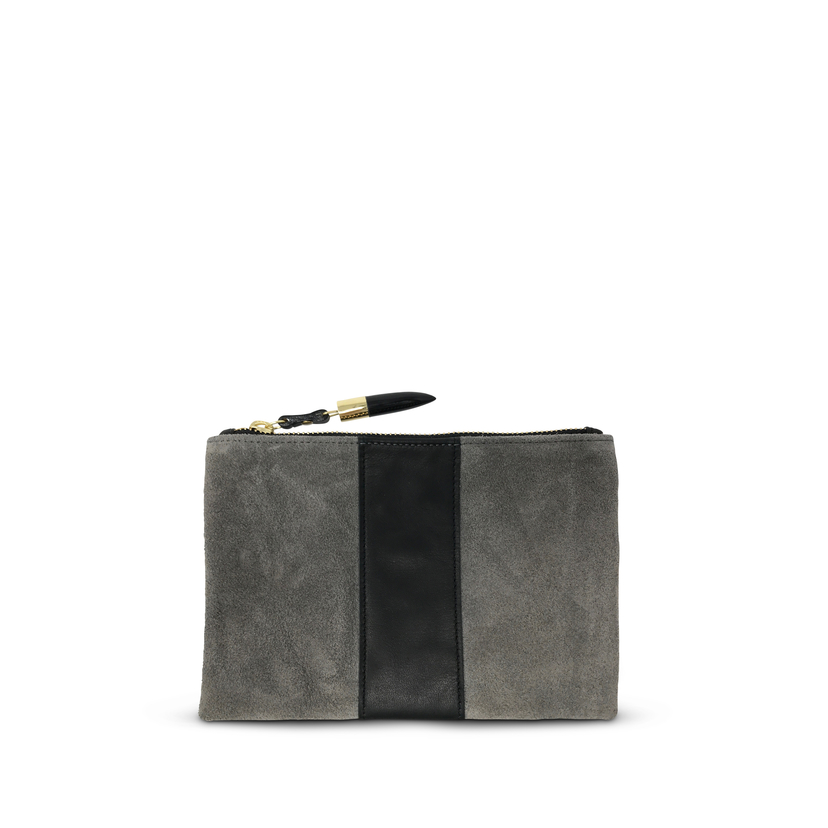 Kempton Co Storm Suede/Black Stripe Small Pouch Bags