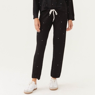 MONROW Monrow Supersoft Rhinestone Sweats Pants