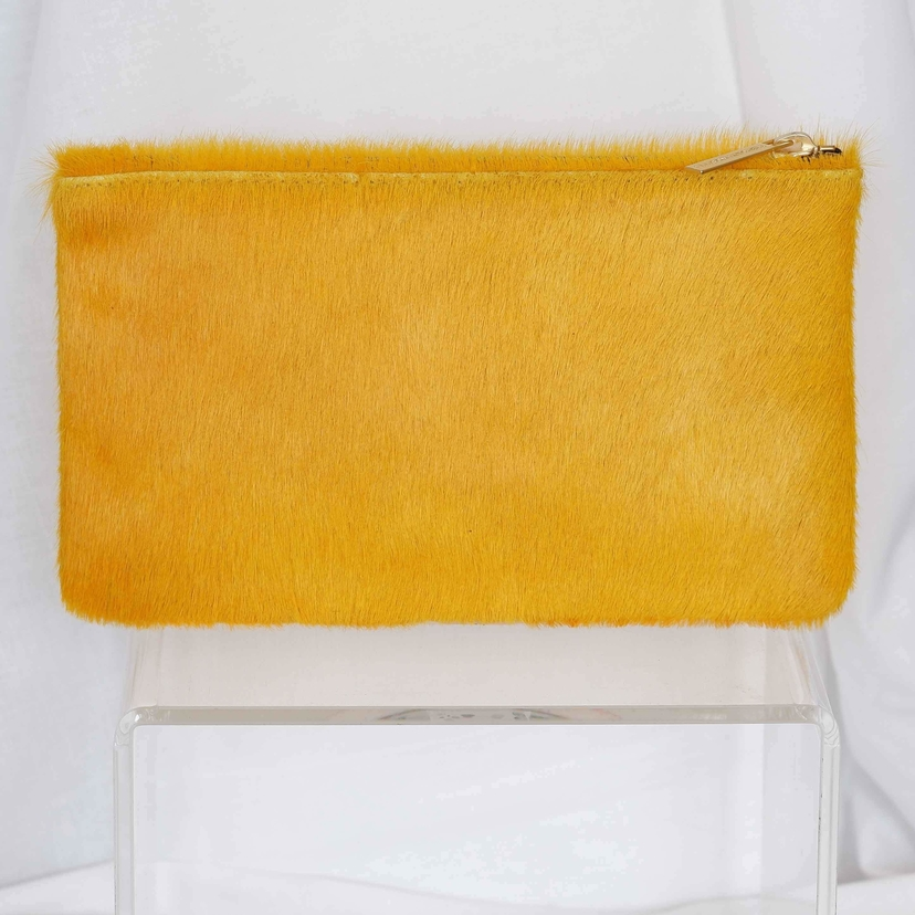 Allison Mitchell Zip Pouch in Marigold