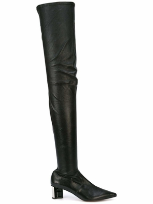 Robert Clergerie SAPPHIA Thigh High Leather Boots Shoes