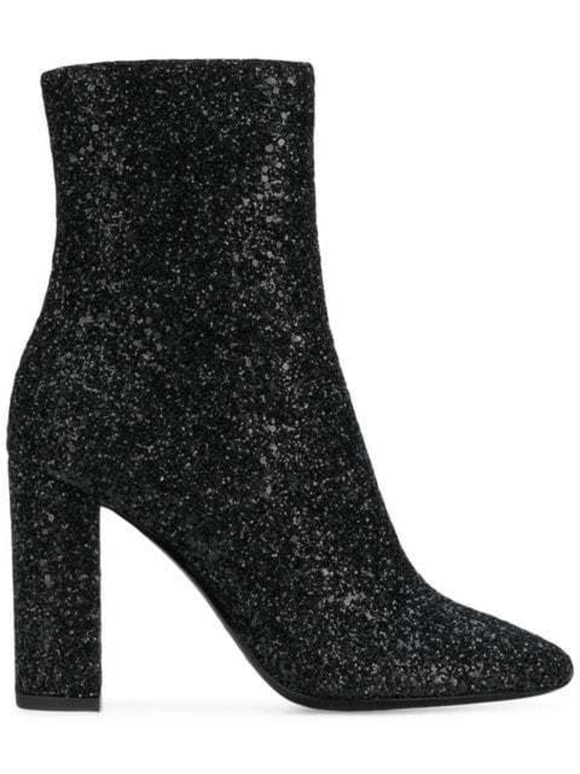 Saint Laurent Saint Laurent - Loulou Glitter Ankle Boots Shoes