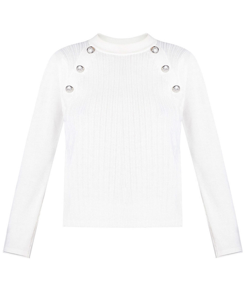 Veronica Beard Veronica Beard Ivory Simi Sweater Tops