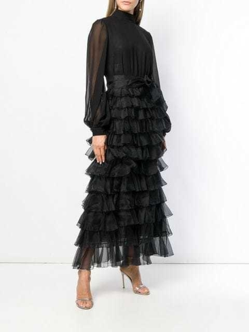 Giambattista Valli tiered ruffle maxi dress Dresses