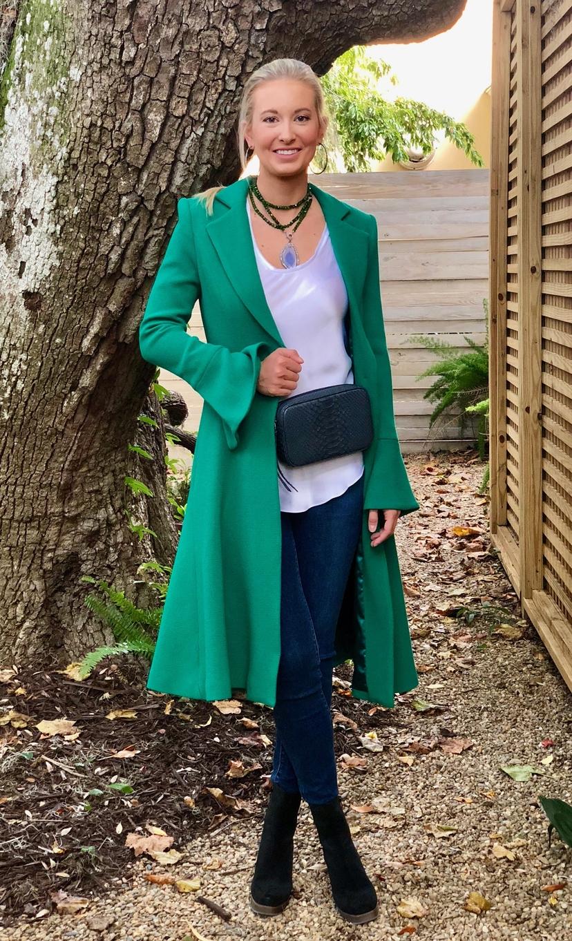 Milly Emerald Green Coat Outerwear