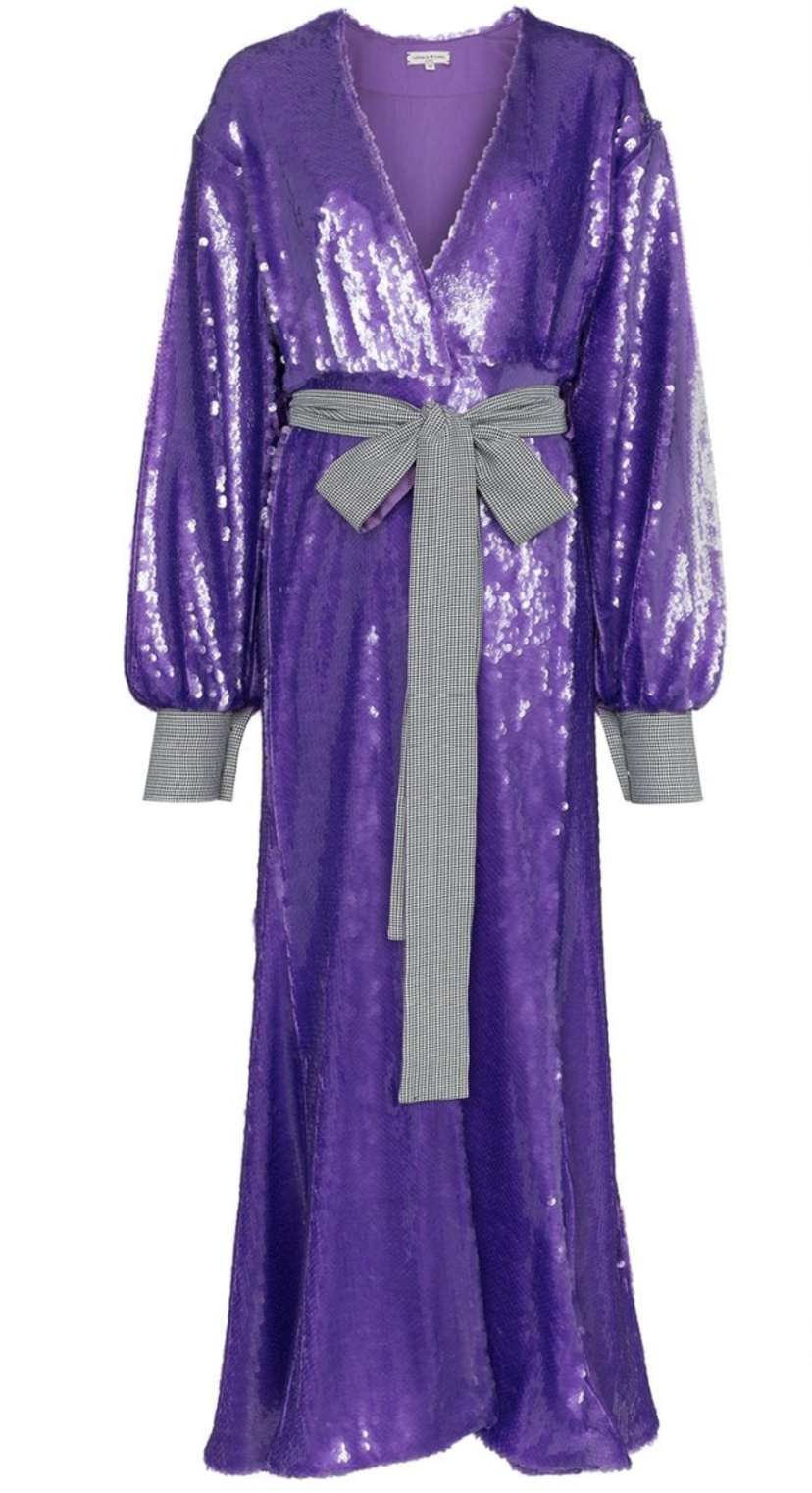 Natasha Zinko Purple Sequin Dress (Originally $2,190) Dresses Sale