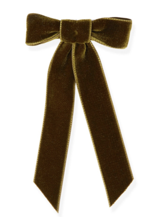 Jennifer Behr Velvet Bow in Olive Accessories Gifts