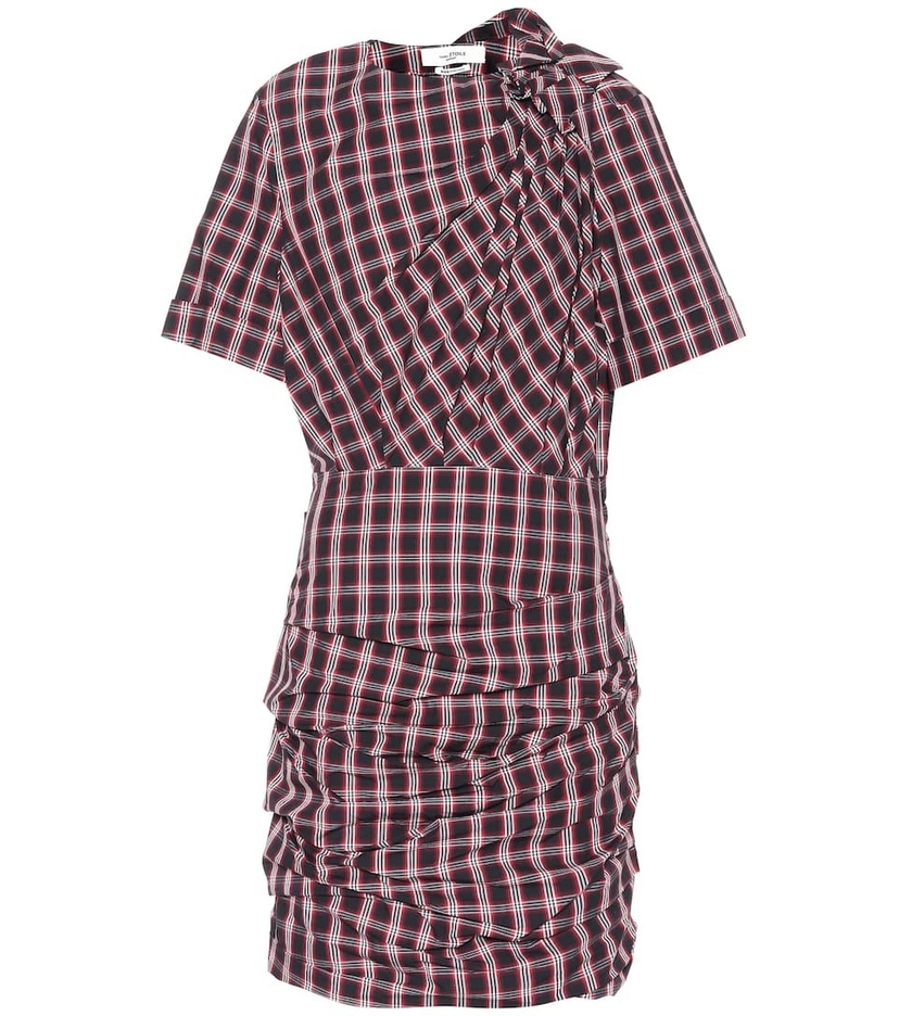 Isabel Marant Étoile Oria Dress - Black and Red Check Dresses Sale