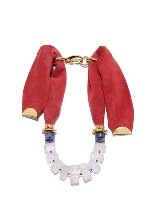Lizzie Fortunato Red Collage Necklace Jewelry