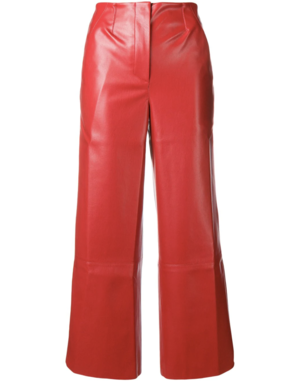 Nanushka Red Vegan Leather Pants Pants