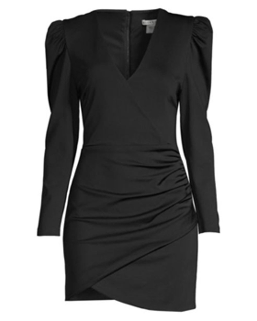 Alice + Olivia Alice + Olivia Black Judy Long Sleeve Ruched Dress Dresses