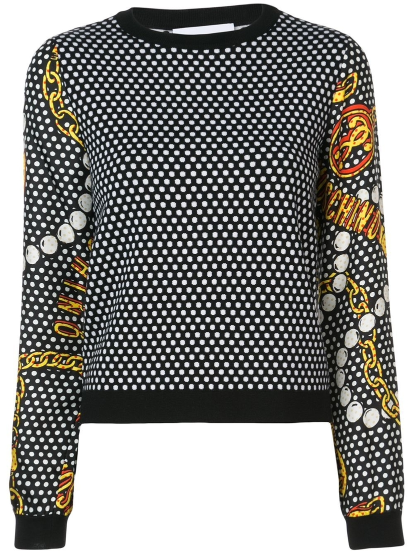 Moschino Fantasy Print Sweater Tops
