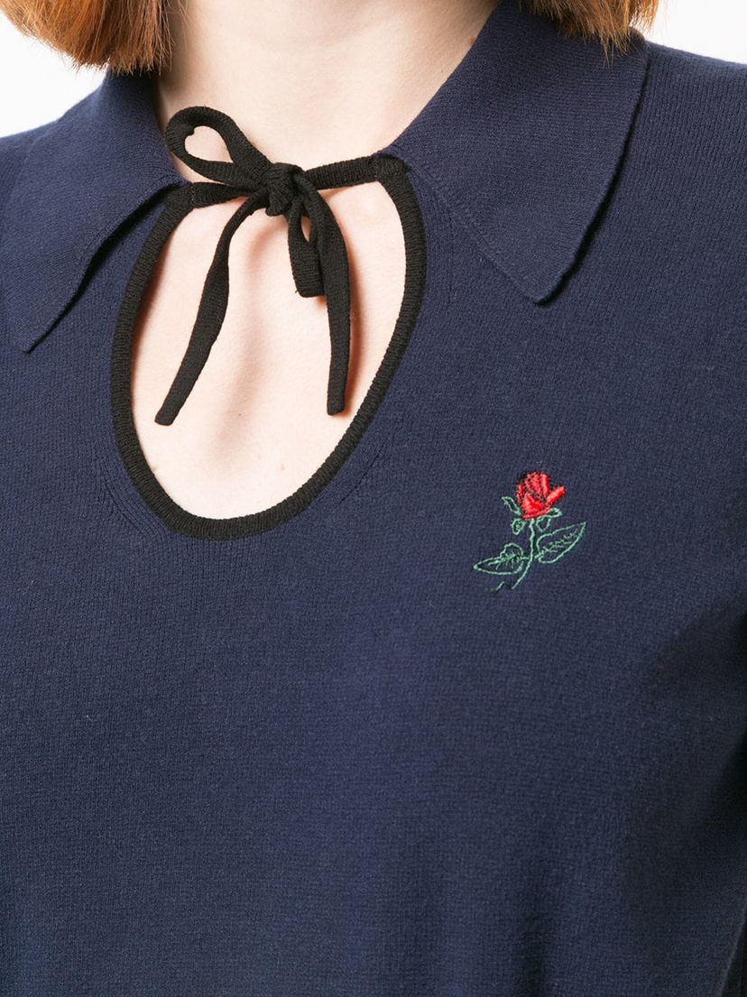 Rosie Assoulin Navy Polo Shirt Tops