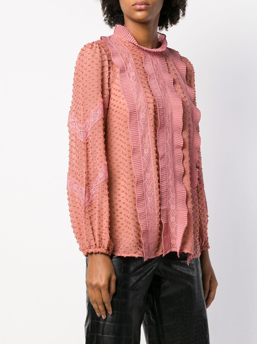 Zimmermann Unbridled Spliced Blouse Tops