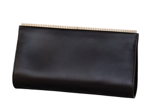 Valextra Valextra 'Lucky Stars' Black Leather Clutch Bags