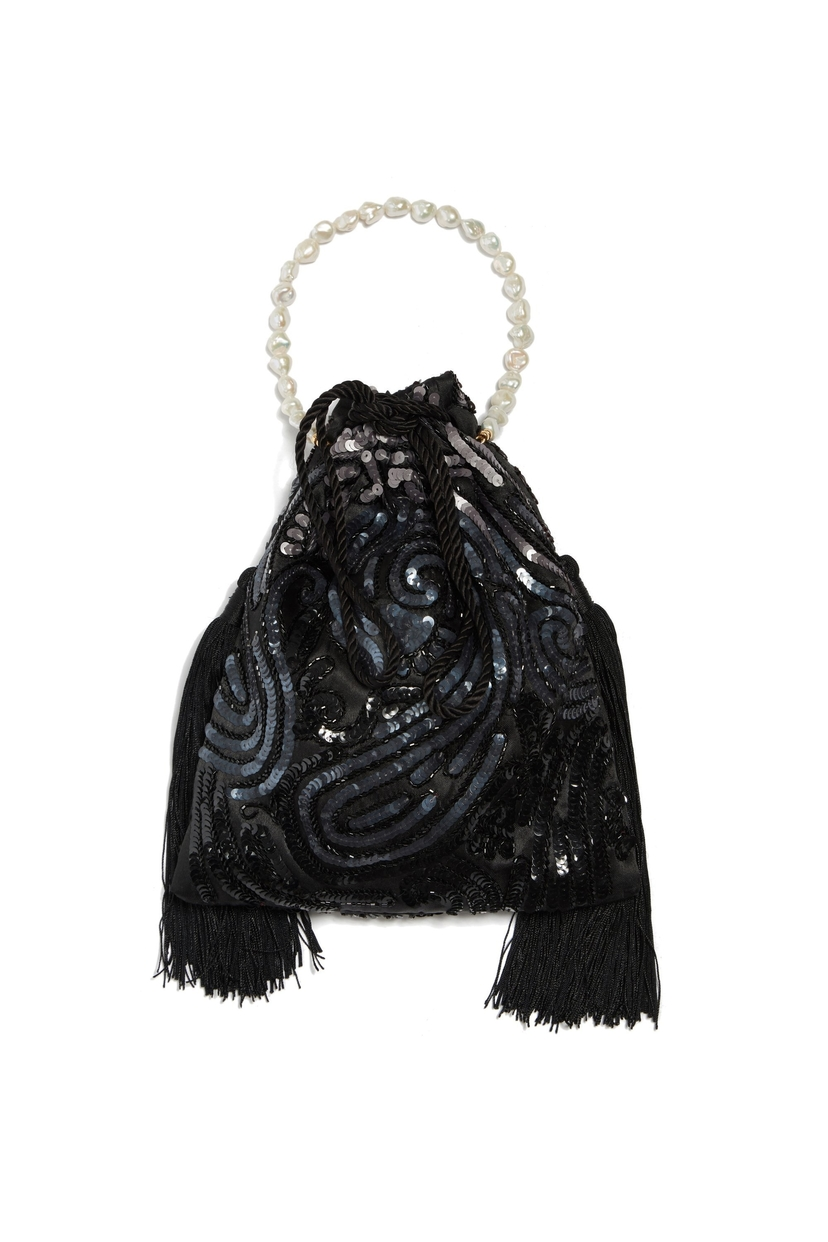 Lizzie Fortunato Gala Wristlet In Deco Sequins Accessories