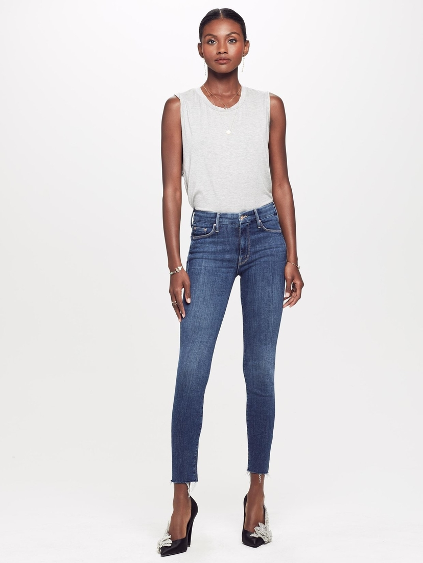 Mother The Looker Ankle Fray Jean Pants