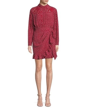 Rebecca Taylor Heart Print Silk Dress Dresses