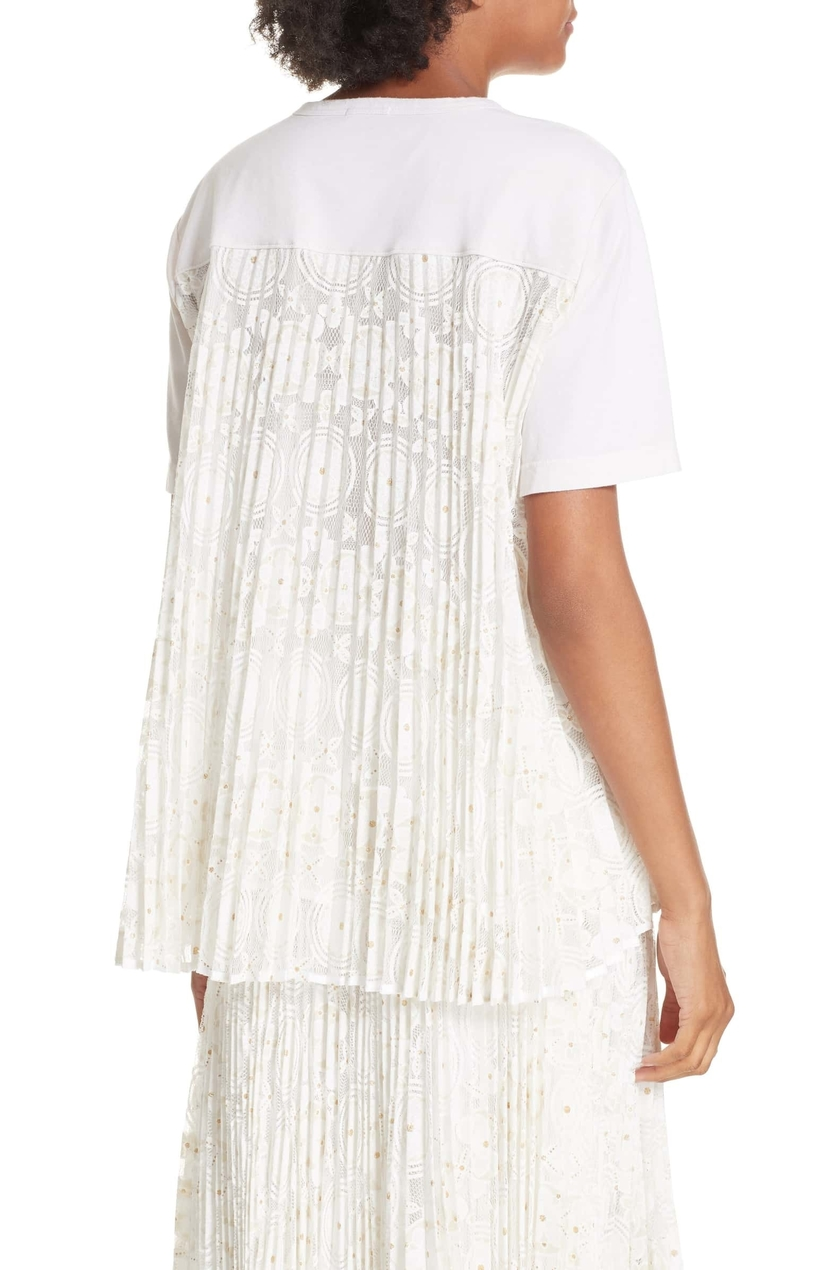 Clu Floral Lace Pleat Back Top Tops