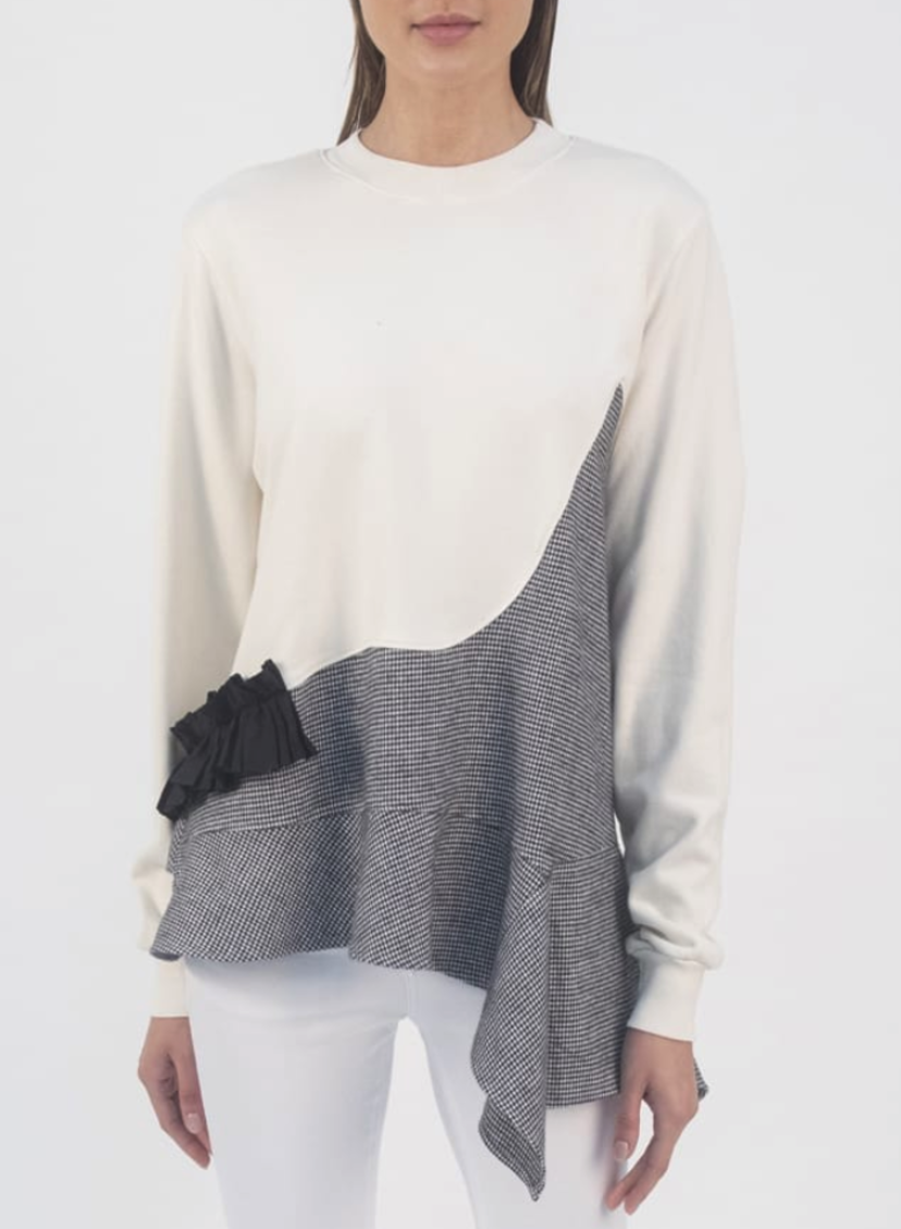 Clu Paneled Cotton Sweatshirt Tops