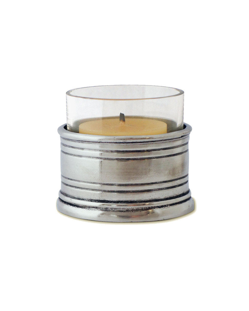 MATCH Pewter Pewter & Crystal Tea Light Candle Holder