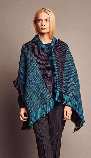 wehve Easy Poncho - Jade Outerwear Tops