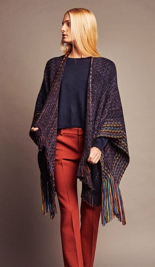 wehve Fringed Kimono - Peacock Outerwear