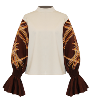 All Things Mochi Ava Top - Brown Tops