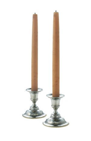 MATCH Pewter Pewter Martina Candesticks, set of 2