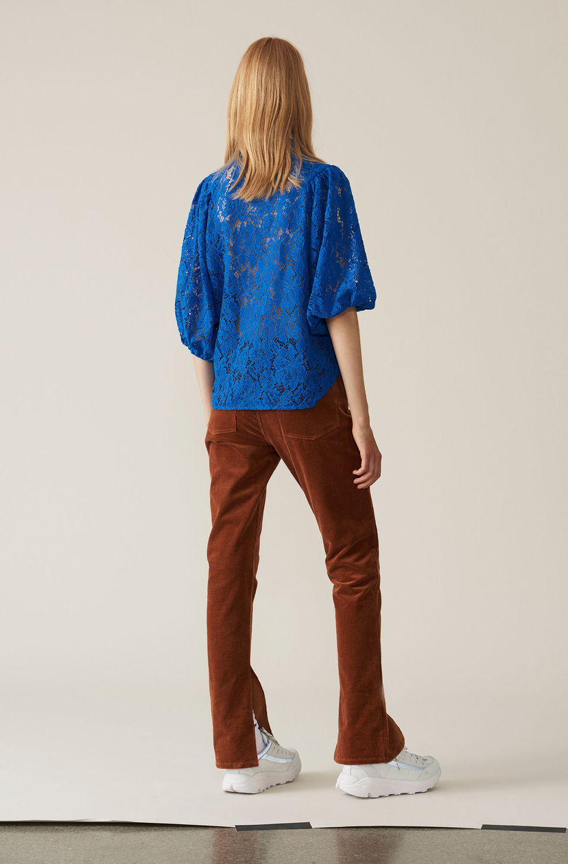 Ganni Everdale Lace Shirt Tops
