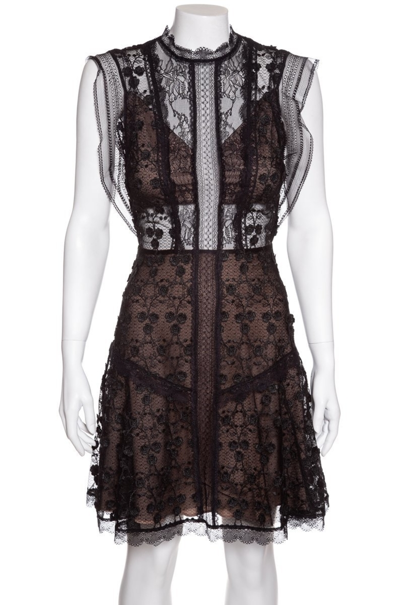 Alexis Alexis Black Lace Dress Sz S Dresses