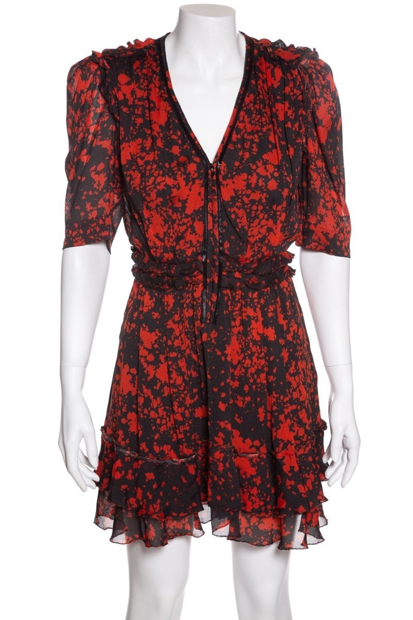 Isabel Marant Isabel Marant Red and Black Short Sleeve dress Sz 36 Dresses