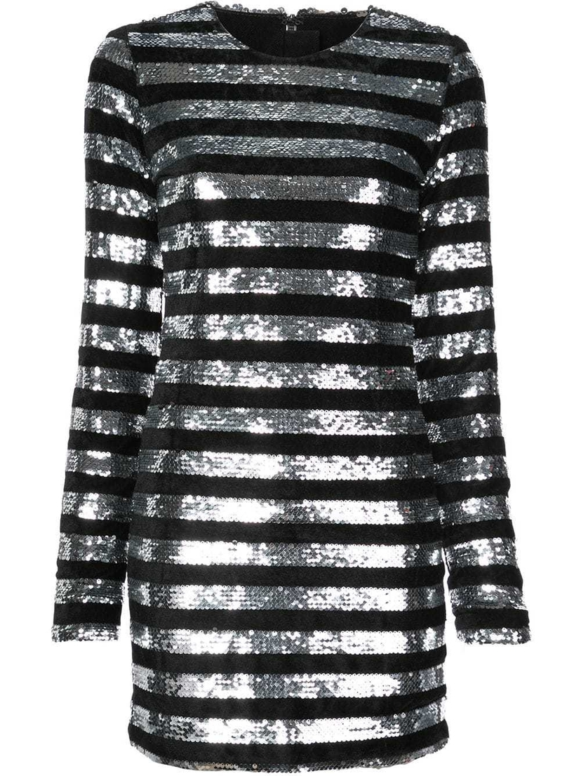 RTA RtA - Striped Sequin Mini Dress Dresses