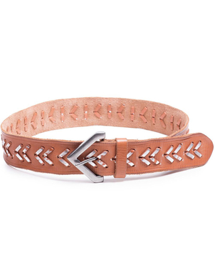 Linea Pelle Linea Pelle Chevron Laced Belt Accessories