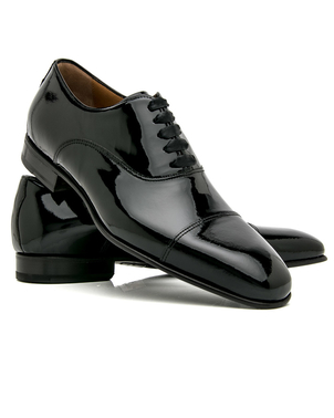 Di Bianco Di Bianco Black Patent Leather Formal Oxford Shoes