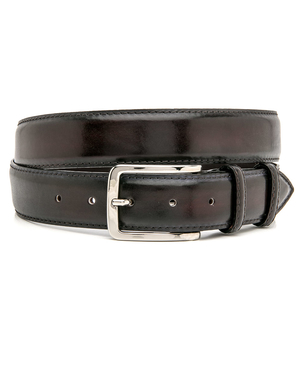 Bontoni Bontoni Burgundy Paisa Leather Belt Accessories