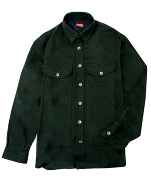 Isaia Isaia Forest Green Flannel Overshirt Men's
