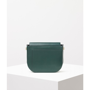 Valextra Valextra Twist Crossbody in British Racing Green Accessories Bags