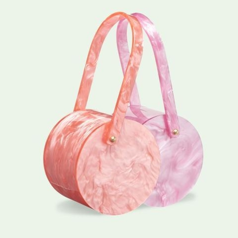 Edie Parker Double Shot in Mauve Blush and Guava Bags