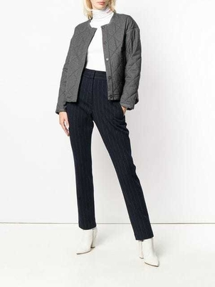 Odeeh Odeeh Grey Wool Quilted Jacket Outerwear