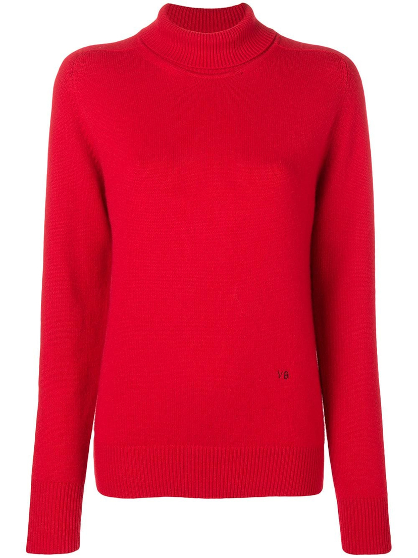 b310993cdafa37 Victoria Beckham Red Turtleneck Tops