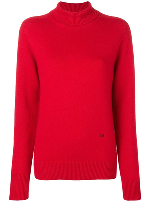 Victoria Beckham Red Turtleneck Tops