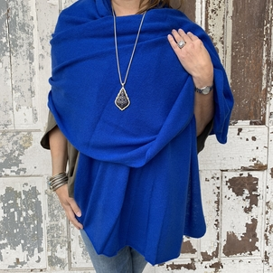 Cashmere Wrap - Royal Blue Accesories