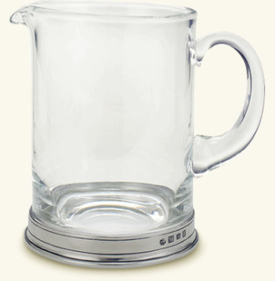 MATCH Pewter Branch Bar Pitcher, Crystal
