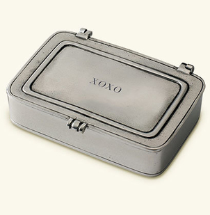 "MATCH Pewter ""XOXO"" Box, Large"