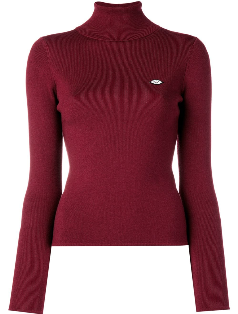 See by Chloé Long Sleeve Turtleneck in Red (Originally $370) Gifts Sale