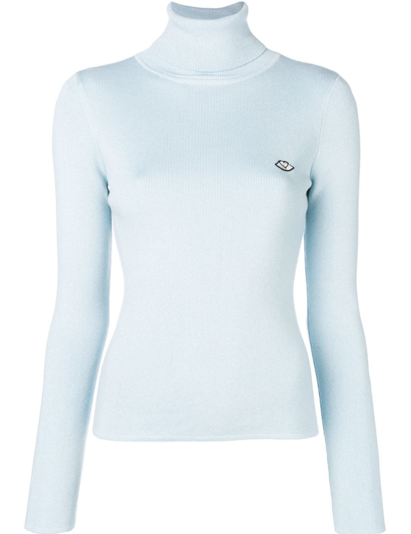 See by Chloé Long Sleeve Blue Turtleneck (Originally $370) Gifts Sale